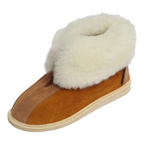 Lambskin Moccasin Alaska Brown Lambswool Shoes Lambswool Slippers Fur Shoes