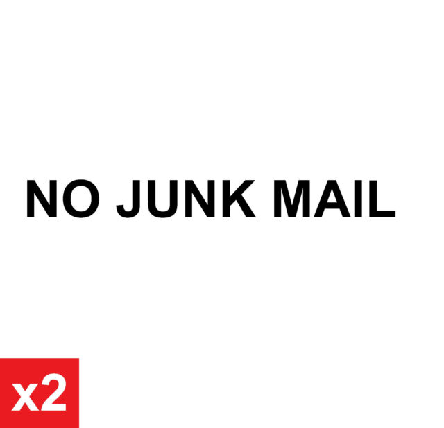 NO JUNK MAIL Waterproof Vinyl Sticker Decal Sign for Letterbox and Mail Box