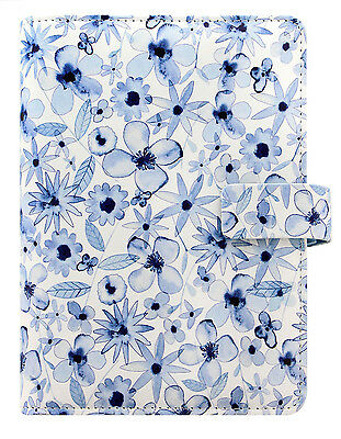 Filofax Personal Size Organiser Diary - 'Patterns' Indigo Floral 027041