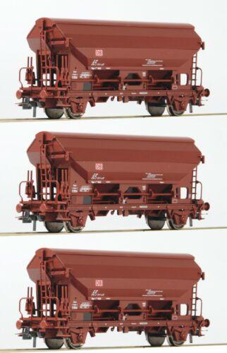 Roco 76575 H0 Set Schwenkdachwagen DB AG Ep.5 3teilig NEU//OVP