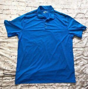 Nike-Golf-Tour-Performance-Dri-Fit-Blue-Polo-Shirt-Men-039-s-Size-XL