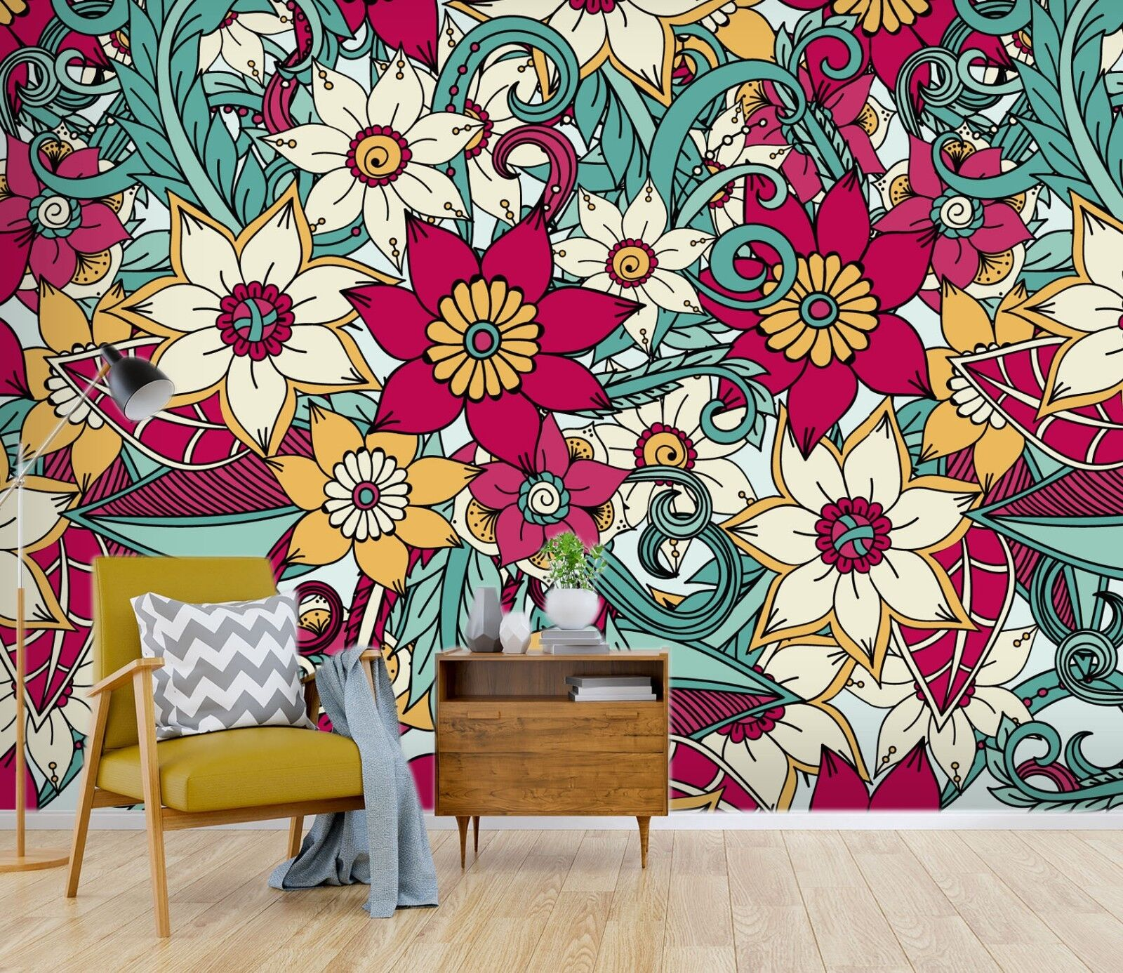 3D Blooming Flower 33 Wallpaper Mural Print Wall Indoor Wallpaper Murals UK