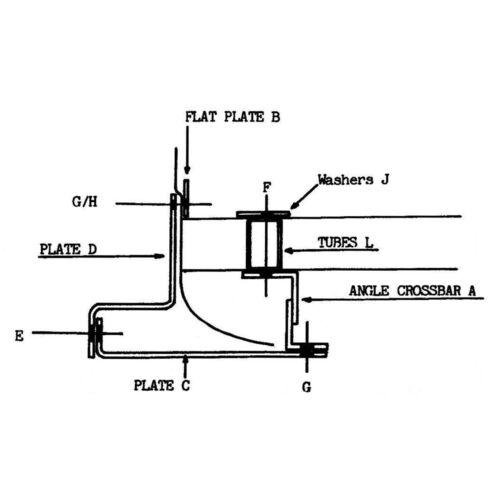 Towbar for Ford Capri Mk 2//3 1974-1987 Flange Tow Bar