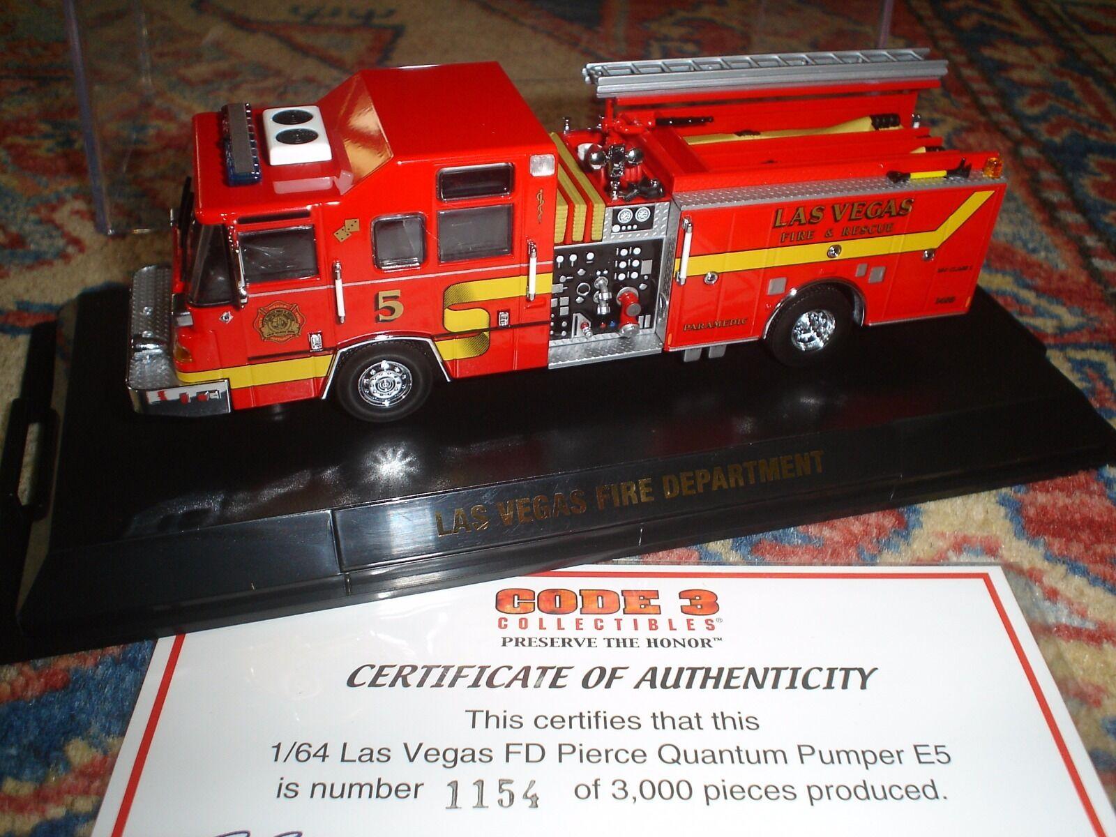 CODE 3 – FDNY  – LAS VEGAS  FIRE DEPT. PIERCE QUANTUM PUMPER  E5