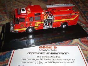 Code 3 - Pompiers Fdny Las Vegas Pierce Quantum Eumper E5
