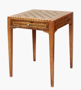 Details zu Schachbrett Tisch 60 x 60 x H80cm schon montiert Schachbrett NEU Made in Italy