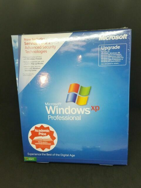 Microsoft Win XP Professional Version 2002 Service Pack 2 SP2 New Sealed w// Key