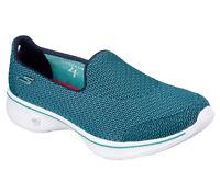 14900 Teal Skechers Shoes Go Walk 4 Women Mesh Slip On Comfort Casual Loafer New