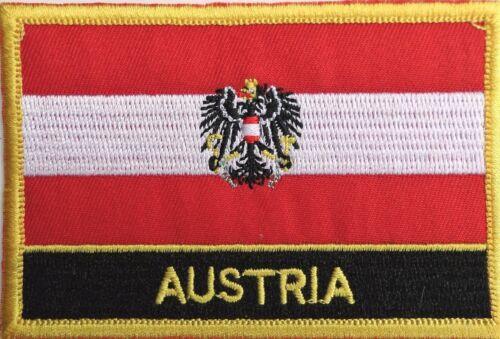 Österreich Staat Flagge Aufgestickt Patch Abzeichen - Nähen oder Zum Aufbügeln