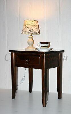 Massivholz Nachttisch kolonial braun NEU Nachtkommode Beistelltisch Nachtkonsole