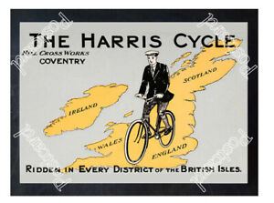 Historic-Harris-Cycle-Hill-Cross-Works-in-Coventry-1910s-Advertising-Postcard