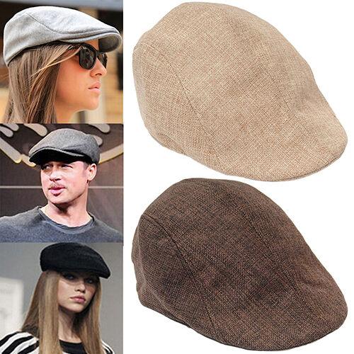 Men Women Fashion Peaked Cap Flat Hat Beret Hats Cabbie Newsboy Style Popular