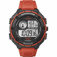 New Timex Men's T49984 Expedition Vibe Shock Sports Outdoor Watch Red/Black