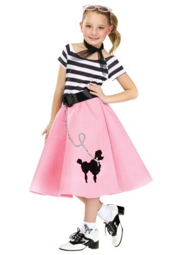50/'s Soda Shop Sweetie Poodle Dress Child Costume