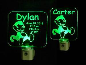 Personalized Monkey LED Night Light Handmade Kids Nursery Animal Lamp