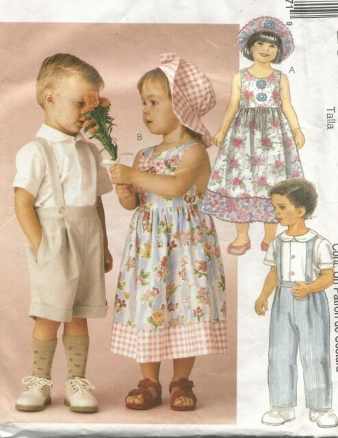 Dress McCall/'s 6540 Toddlers/' Tops Shorts and Hat  Sewing Pattern