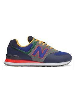 New-Balance-ml574md2-Scarpa-sport-sneaker-blu-multicolor