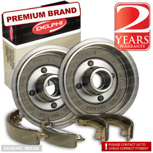 Rover Group MG ZR 1.4 105 102bhp Rear Brake Shoes /& Drums 203mm 203mm TRW Sys