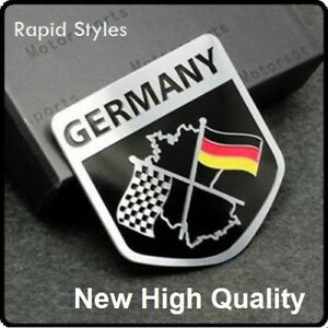 New-GERMANY-German-Chequered-Flag-Car-Badge-Emblem-Decal-Sticker-boot-rear-94