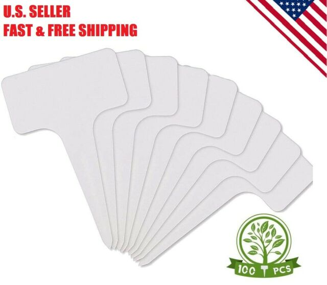 100Pcs Plant Pot Labels PVC for Garden Trays Stake Tags Blank Label Marker 5cm