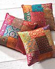 ❤️Brocade Patchwork Cushion Cover 40cm x 40cm Multi Colour Fair Trade Indian