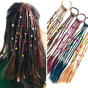 2pcs-enfants-perruque-tresses-multi-couleur-mini-clip-elastiques-cheveux-bandes
