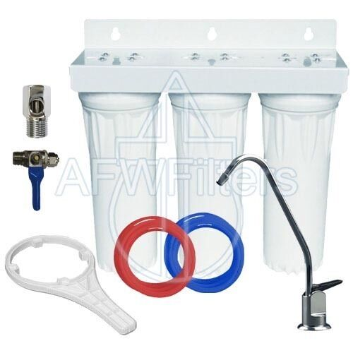 3 Stage 10  Drinking Water Filter with Alkalinity Filter raise ph add minerals