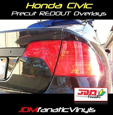 Civic tail light Overlays Blinker Signal RED REDOUT TINT Vinyl K20 FA5 Film JDM