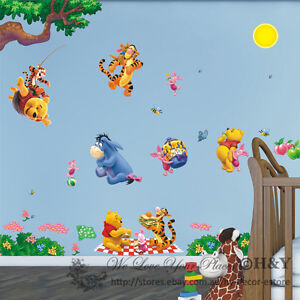 Winnie The Pooh Removable Wall Sticker Vinyl Decal Baby Kids Nursery