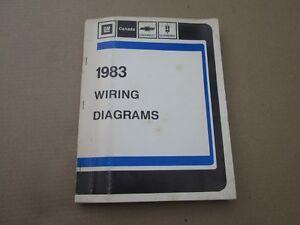 1983 83 WIRING Diagram GM Service Manual Corvette Camaro ...