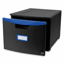 Storex Single Drawer Mobile Filing Cabinet 14 34w X 18 14d X 12 34h Black