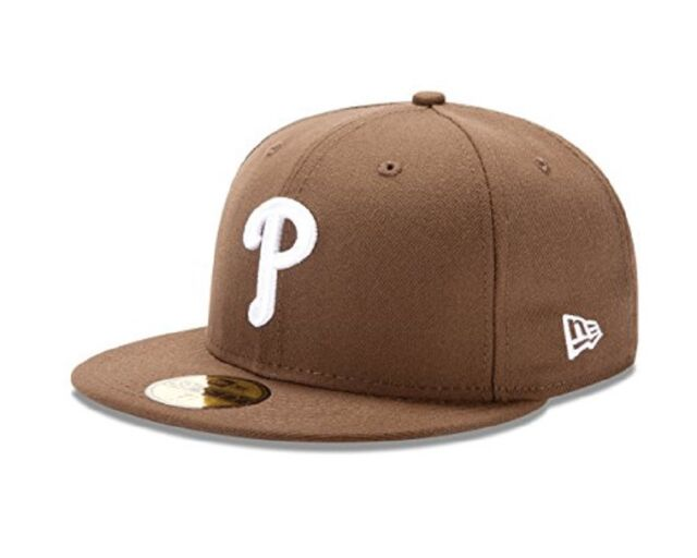 info for 872ee cd3b7 New Era 59Fifty MLB Philadelphia Phillies Walnut 7 Baseball Fitted Cap Hat  NEW