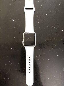 Apple Watch Series 2 38mm 7000 Series Silver Aluminum Case White Sport Band Ebay