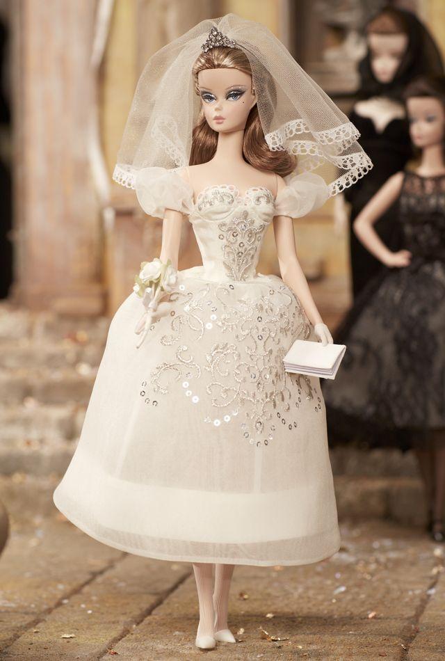 Barbie Fashion Modello oro Label Collection Principessa Bambola Abito Da Matrimonio Sposa