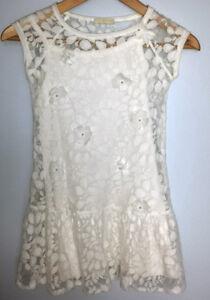 the best attitude b186c b9833 Dettagli su Elsy vestito 8/9 anni bianco come nuovo!!!