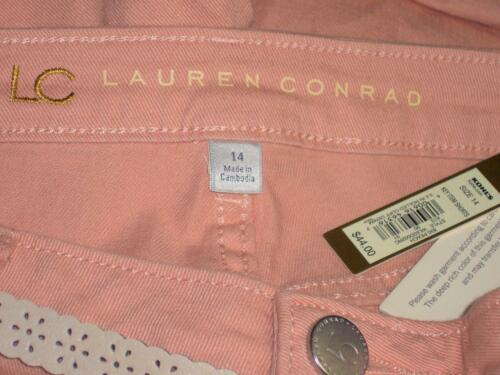 NWT LC Lauren Conrad Mid Rise Belted Rolled Cuff Stretch Short Shorts 4 14 16