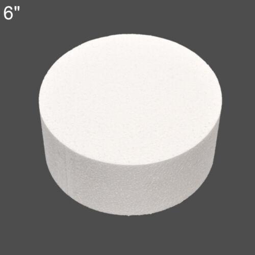 4//6//8inch Styrofoam Foam Cake Dummy Sugarcraft Flower Decor Practice Model