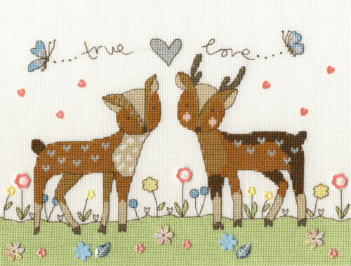 BOTHY THREADS LOVE YOU DEERLY DEER COUNTED CROSS STITCH KIT KIM ANDERSON XKA18