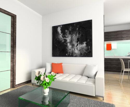 Leinwandbild abstrakt schwarz grau weiß Paul Sinus Abstrakt/_810/_120x80cm