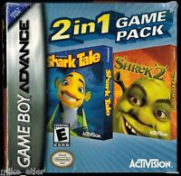 Shark Tale & Shrek 2 Two-in-one (nintendo Game Boy Advance, 2005) Factory Sealed