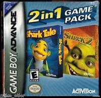 Shark Tale & Shrek 2 Two-in-one (nintendo Game Boy Advance, 2005) Factory Sealed