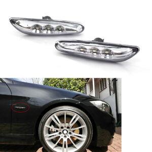 For-BMW-E82-E88-E60-E61-E90-E91-E92-Clear-LED-Side-Marker-Light-Turn-Signal-Lamp