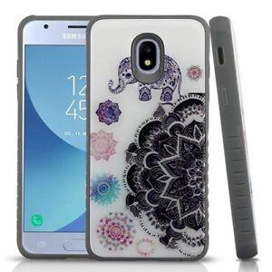 Details about For Samsung Galaxy J3 2018 / Achieve - Mandala Elephant Gel  Hybrid Rubber Case