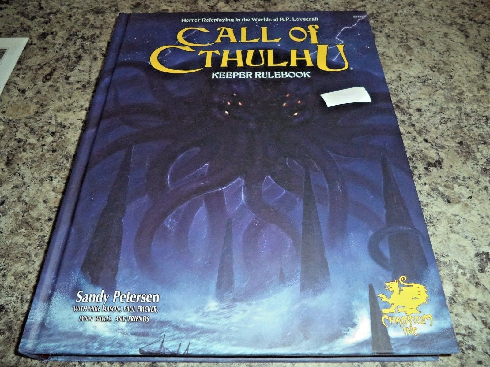 Call Of Cthulhu Custode Rulebook 7  Edizione Chaosium Roleplaying Rpg Book Nuovo