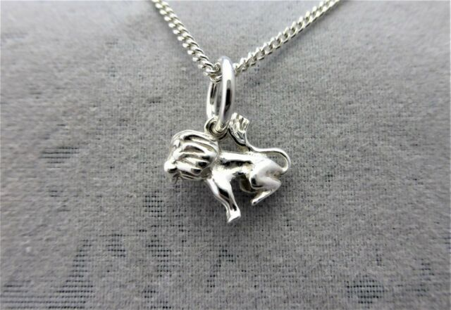 """Sterling Silver (925)  Solid 3D Charm """"Zodiac Leo"""""""