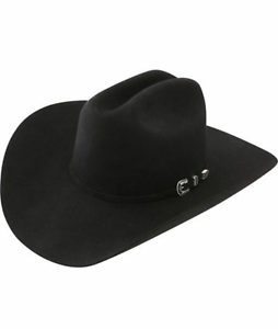 Stetson Cowboy Hat 6X Beaver Fur Black SKYLINE With Free Hat Brush!