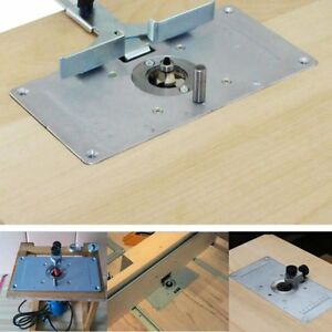 For-Woodworking-Benches-Aluminum-Router-Table-Insert-Plate-With-4-Rings-Screws