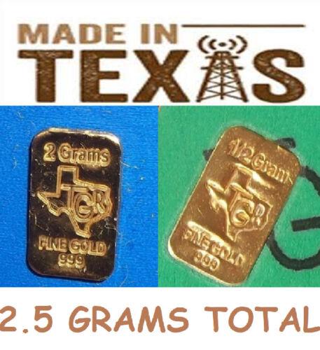2.5 GRAM GOLD BARS 24K TGR BULLION 9999 PREMIUM INGOTS COMBO SPECIAL !