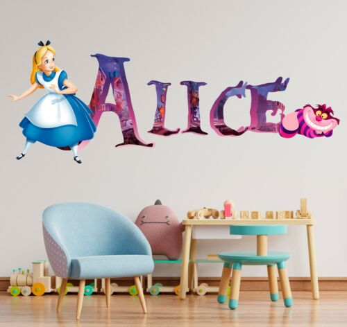Details about  /Alice in Wonderland Custom Vinyl Lettering Stickers Wall Decals Name Art KA302