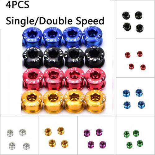 4Pcs MTB Bike Chainring Bolts Double//Triple Speed Disc Single Chainwheel Screws